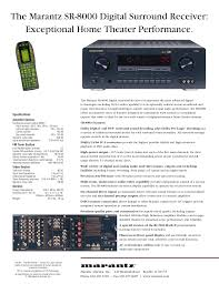 home theater connection download free pdf for marantz sr8000 receiver manual