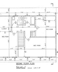 second floor in 2d diagram and drawing with small 2 levels house
