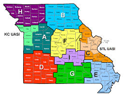 Map Of Missouri Cities Department Of Public Safety Office Of Homeland Security