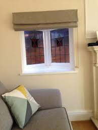 Roman Blind Lucie Gives Her Stained Glass Window A Lovely Makeover With A