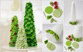 how to recycle recycled tabletop christmas trees ideas