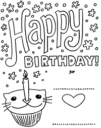 coloring birthday card printable coloring birthday cards birthday card with pictures cat cupcake