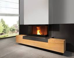 linear fireplace with a minimalist and modern design installed