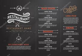 vintage and art restaurant menu design u2014 stock vector