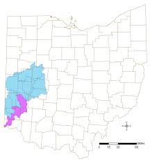 Map Of Counties In Ohio Great Miami River