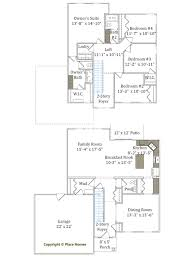 floor plans for homes two story two story homes place homes