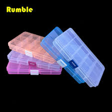 Plastic Tool Storage Containers - new 15 slots cells colorful portable jewelry tool storage box
