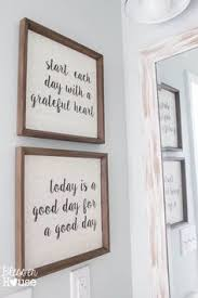Rustic Bathroom Signs - 21 wood signs to add rustic glam to your decor wood signs