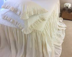 Ruffle Bedding Shabby Chic by Bedspread With Gathered Ruffle Fall Ruffle Bedding Linen