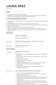 Fluent In English Resume Public Relations Specialist Resume Samples Visualcv Resume