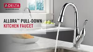 delta allora kitchen faucet delta allora single handle pull down sprayer kitchen faucet with