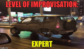 Russian Car Meme - who said you d need 4 wheels to drive imgflip