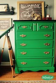 art is beauty emerald green rescued dresser before and after