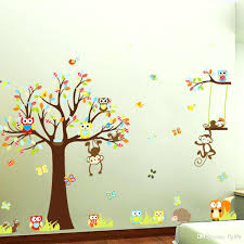 Nursery Wall Decorations Removable Stickers Nursery Owl Wall Decals Large Monkey Owl Tree Wall Decal Removable