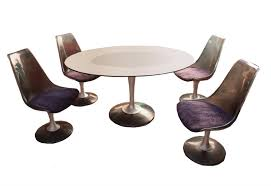 chromcraft table and chairs chromcraft smoked glass dining set chairish