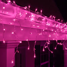 Red And White Christmas Lights by Christmas Icicle Light 150 Purple Icicle Lights White Wire