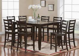 small modern square dining table seats painted with all black