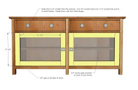 glass door entertainment center ana white benchmark media console diy projects