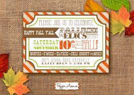 thanksgiving party invites fall festival party personalized printable pdf invitation