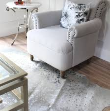 Cowhide Chair Australia Metallic Silver Devore Cowhide Floor Rug Eluxury Home
