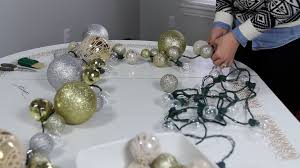 diy lighted ornament garland withheart