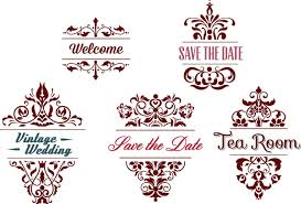 ornamental wedding frames vector free
