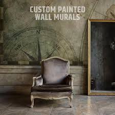 custom painted wall murals flight of morris