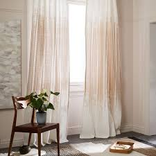 Quiet Curtains Price Echo Print Curtains Set Of 2 Platinum West Elm