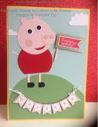 stampin u0027 up peppa pig punch art children u0027s birthday card 001