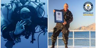 Distance From Diver Down Flag Man Sets New World Record For Deepest Scuba Dive After Plunging