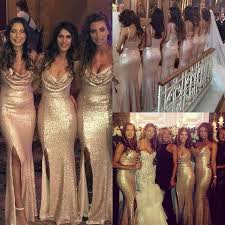 gold bridesmaid dresses best 25 gold bridesmaid gowns ideas on gold sequin
