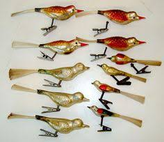 lot of 24 vintage bird ornaments mostly glass mercury german clip