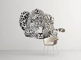 hunting leopard wall decal majestic animals collection big cat hunting leopard wall decal majestic animals collection big cat bedroom and living room decor stickers wild predator hunter