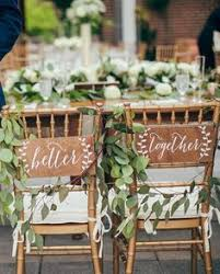 Wooden Wedding Chairs Burlap Wedding Chair Signs Mr And Mrs Chair Signs Wedding