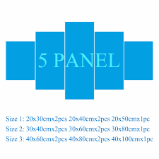 aliexpress com buy 4 or 5 pieces modern canvas painting modular