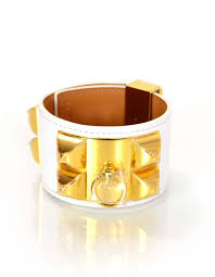 hermes bracelet white images White gold collier de chien cdc cuff bracelet sz s jpg