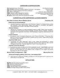Firefighter Resume Template Certified Emt Resume Resume Emt Resume Certified Emt Resume