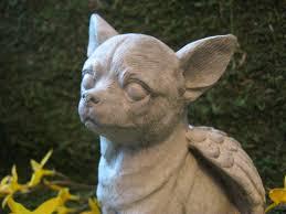 chihuahua angel chihuahua statue pet memorial headstone