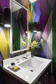 funky bathroom wallpaper ideas 25 dazzling geometric walls for the modern home freshome