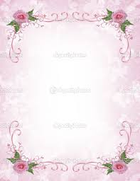Borders For Wedding Invitation Cards Pink Floral Borders Pink Roses Invitation Border Stock Photo