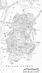 Dc Comics Map Gotham City Map