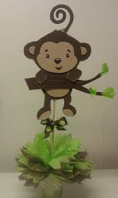 monkey centerpieces for baby shower curly monkey baby shower baby shower theme centerpieces