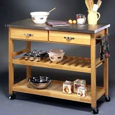 stainless steel kitchen island on wheels rolling butcher block island gorgeous kitchen islands stainless