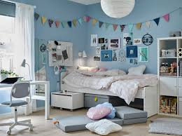 Bedroom Furniture Items A Tween Bedroom With Blue Walls And White Sl Kt Bed Items