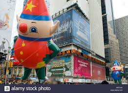 santa s elves balloons in the 2005 macy s thanksgiving day parade