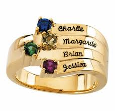gold mothers rings images Engraved birthstone mothers ring in white or yellow gold jpg