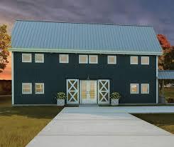 country barn plans predesigned barn home kit 7 ponderosa country barn 3d home model
