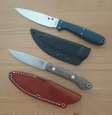 new hunting knife vs old spyderco sprig vs brkt bird and trout