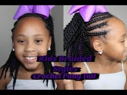 crochet braid ponytail how to corn roll crochet ponytail kids braided styles