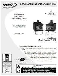 Lennox Gas Fireplace Manual by Lennox Country Collection Manual